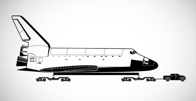 Toyotin pick-up će vući 136 tona težak Space Shuttle!
