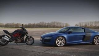 Je li Audi R8 V10 brži od Ducati Diavela?