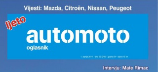 Oglasnik automoto – ljetno izdanje od 1. srpnja na kioscima