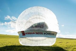 Nissan kreira najveći zorb na svijetu – s automobilom unutra