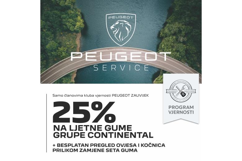 Proljetna akcija u mreži ovlaštenih PEUGEOT servisa