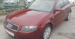 Audi A3 1,9 TDI,klima,reg.9/17,MODEL 2006**KARTICE**RATE**
