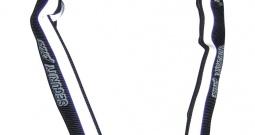 Lanac za bicikl SKS 100 Security Plus crna, bijela (reflektirajuća) reflekti...
