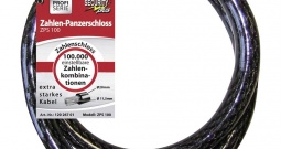 Kabelski lokot za bicikl ZPS 100 Security Plus crna brojčana brava