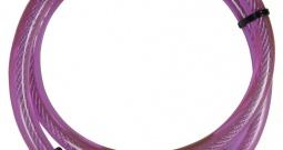 Kabelski lokot za bicikl Security Plus, s simbolima, ružičaste boje, oprema...