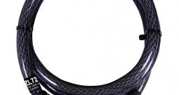 Kabelski lokot sa kodom za bicikl Security Plus ZL 72, crne boje, oprema za b...