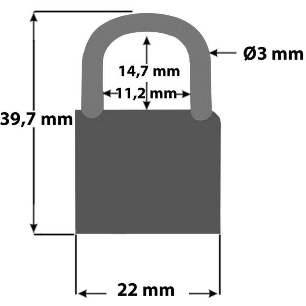Komplet mini obiteljskih lokota za bicikl Security Plus V 22-4, oprema za bic...