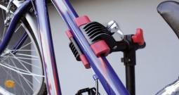 Profesionalni montažni stalak za bicikl 16414 Eufab čelik, crna