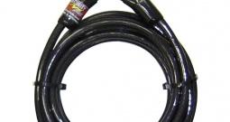 Lokot za bicikl Security Plus LK-500, čelični kabel s plastičnom oblogom, ...