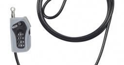 Kabelski lokot za bicikl Abus 205/200, 52523-0, črne boje, oprema za bicikl