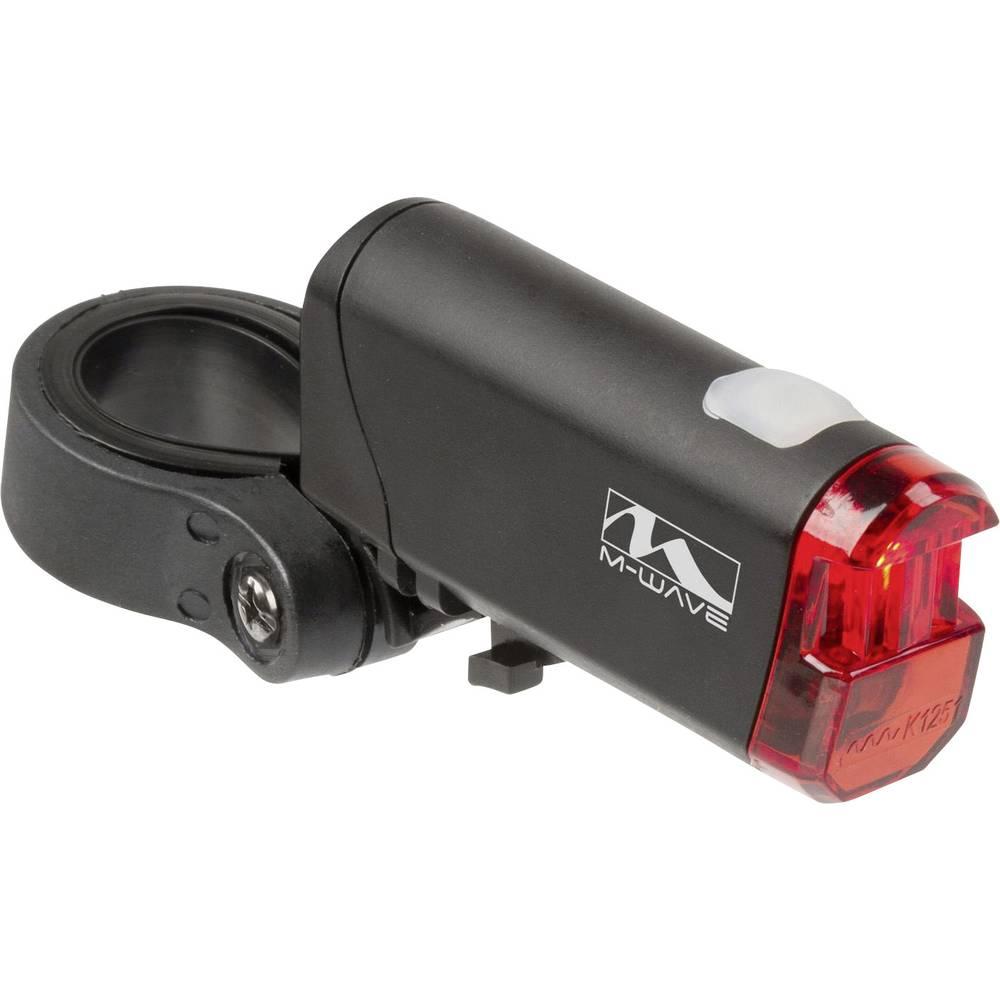 Stražnje svjetlo za bicikl M-Wave HELIOS K 1.1 LED baterijski pogon Crna