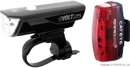 Komplet svjetla za bicikl Cateye GVOLT25 + RAPID MICRO G LED pogon na punjivu...