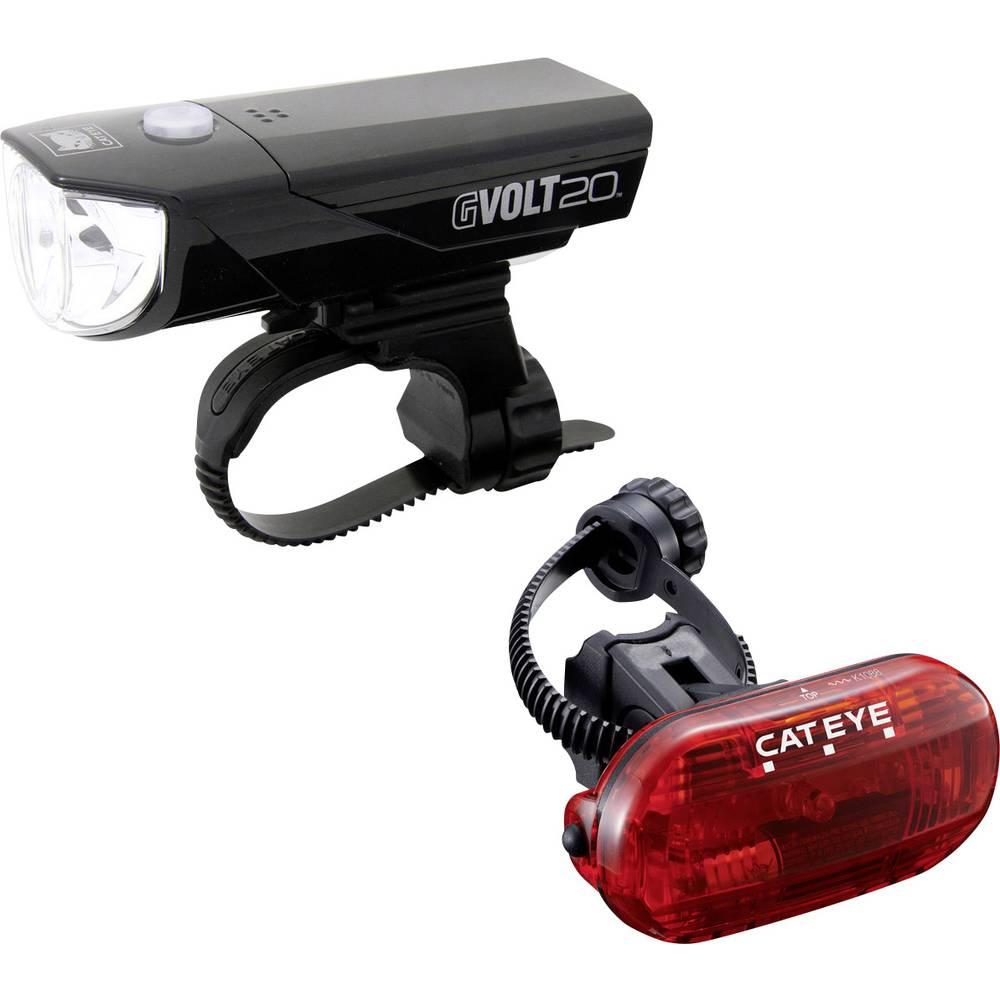 Komplet svjetla za bicikl Cateye GVOLT20 + OMNI3G LED baterijski pogon Crna, ...