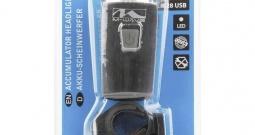 Prednje svjetlo za bicikl M-Wave APOLLON K28 USB LED Crna