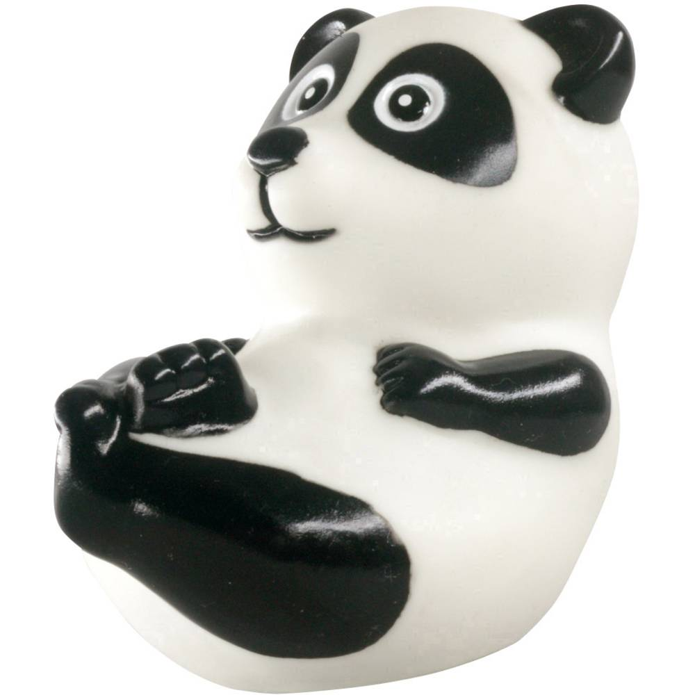 """Zvono za bicikl Tierhupe \\""""Panda\\"""" Bijela, Crna"""