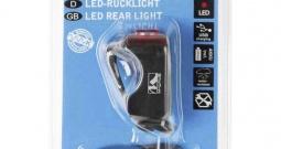 Stražnje svjetlo za bicikl M-Wave HELIOS K1.1 USB LED pogon na punjivu bater...