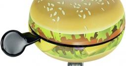 """Zvono za bicikl Widek Glocke \\""""Food\\"""" Hamburger Šarena boja"""