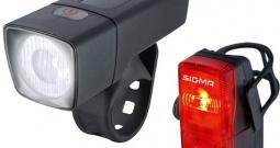 Komplet svjetla za bicikl Sigma AURA 25 FL + CUBIC RL K-SET baterijski pogon ...