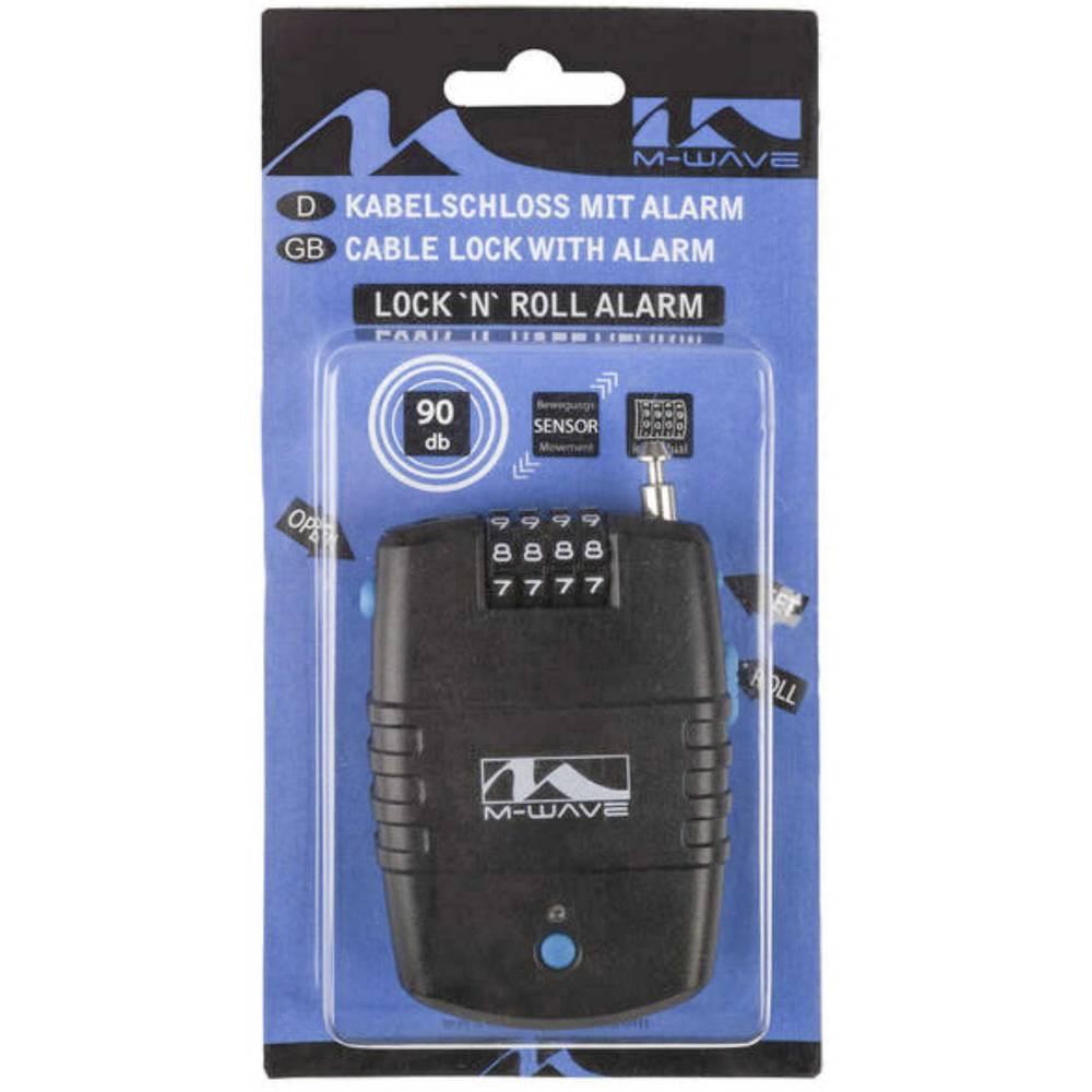 Kabelski lokot M-Wave LOCK`N`ROL Crna S alarmom Zaključavanje s brojčanikom