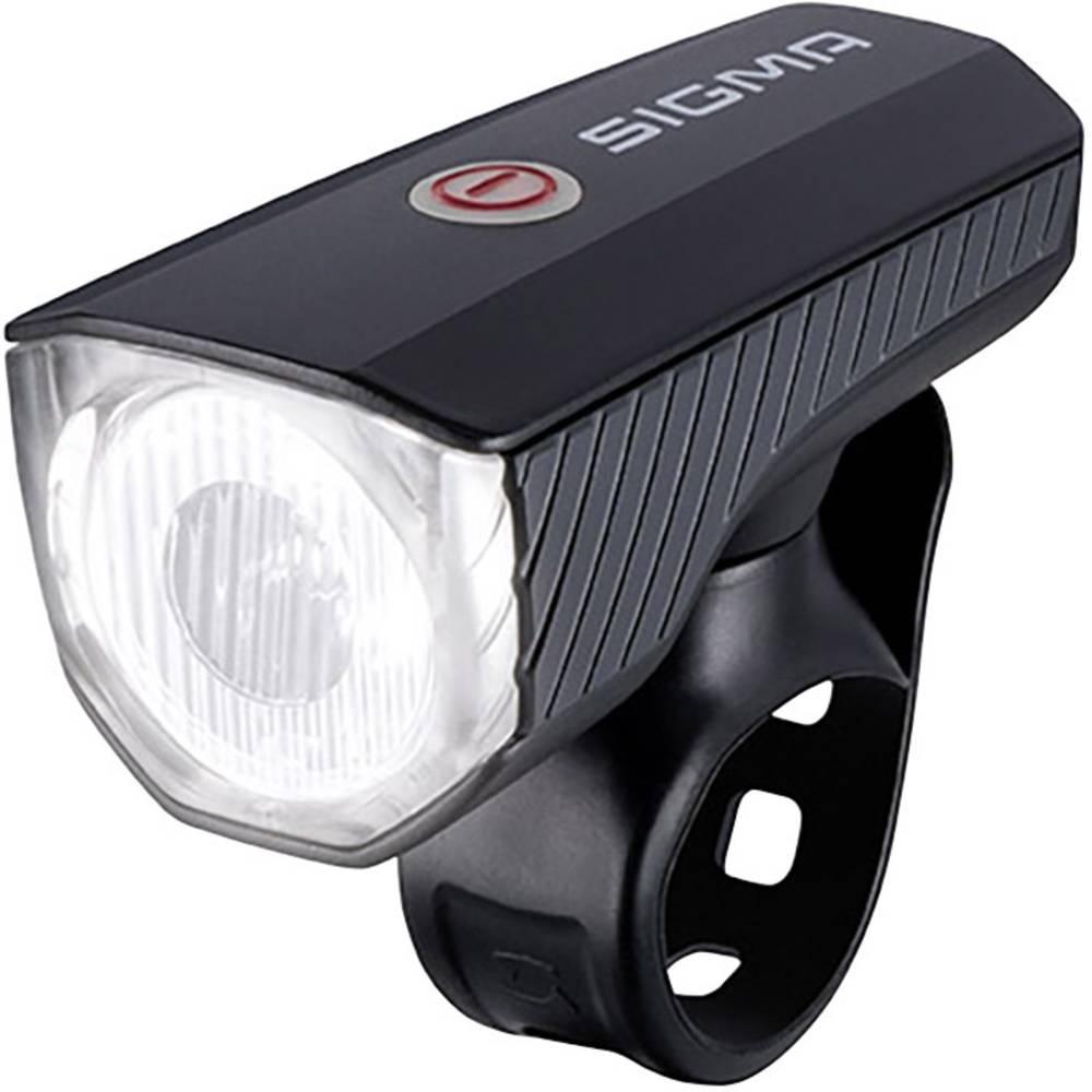 Prednje svjetlo za bicikl Sigma AURA 40 FL pogon na punjivu bateriju Crna