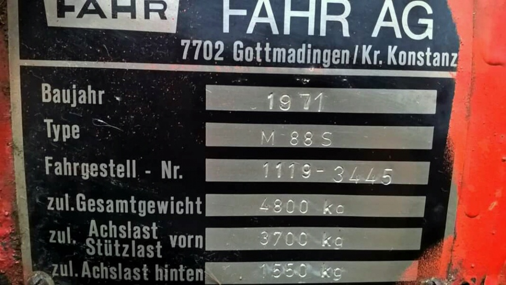 Kombajn Fahr M88S