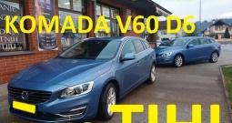 Volvo V60 d6 4x4 struja + dizel + plug 131 tkm, kao nov