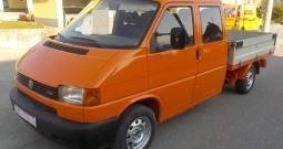 VW Transporter T-4, 2,5 TDI, dupla kabina + alu sanduk,MODEL