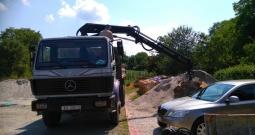 Kamion Mercedes 1722 AK, dizalica HIAB 071