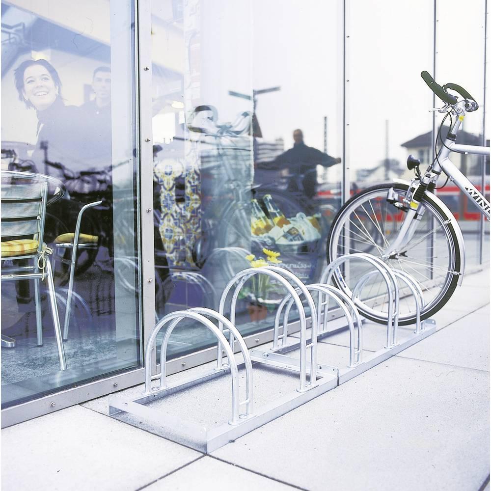 Stalak za bicikle 4 mjesta 2-strani Moravia 169.15.104 čelik, cink-sive boje
