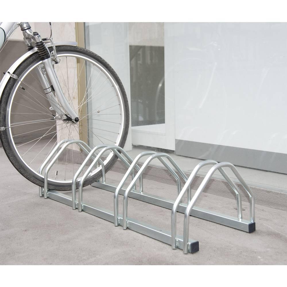Stalak za bicikle 4 mjesta 2-strani, kompaktni Moravia 169.15.334 čelik, cin...